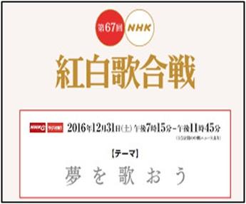 NHK、紅白歌合戦、2016