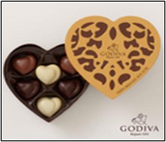 GODIVA、ゴディバ、バレンタインチョコ