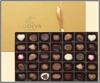 GODIVA,ゴディバ、バレンタインチョコ