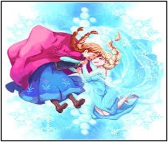 アナと雪の女王、イラスト