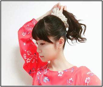 深川麻衣、インスタ、ポニーテール、髪型